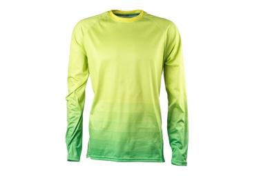 maillot manches longues yeti alder jaune vert