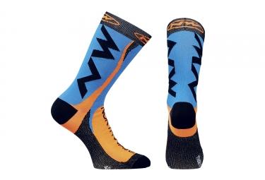 chaussettes hautes northwave extreme tech plus bleu orange 2017