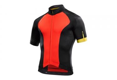 maillot manches courtes mavic 2017 cosmic elite noir rouge