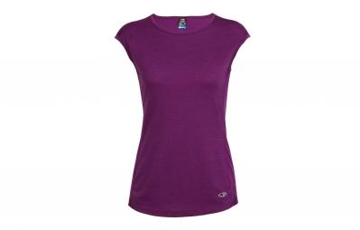 t shirt femme sans manches icebreaker comet lite violet