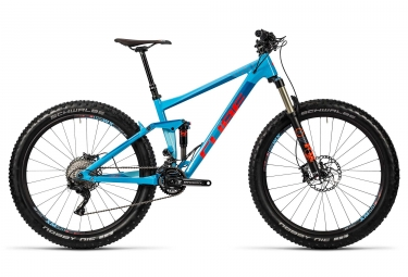 velo complet 2016 cube stereo 150 hpa sl 27 5 shimano xt m8000 11v bleu rouge