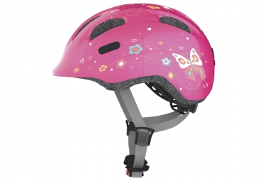 casque velo enfant abus smiley 2 0 pink butterfly