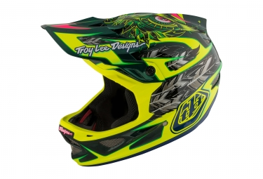 casque integral troy lee designs d3 carbon nightfall mips vert 2017
