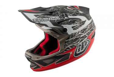 casque integral troy lee designs d3 composite nightfall rouge noir 2017