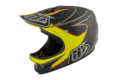 casque integral troy lee designs d2 pulse noir jaune 2017