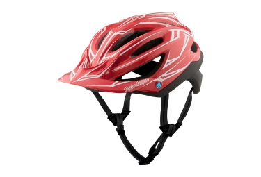 casque troy lee designs a2 pinstripe mips rouge noir 2017