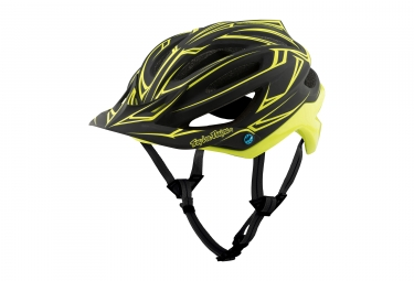 casque troy lee designs a2 pinstripe mips noir jaune 2017