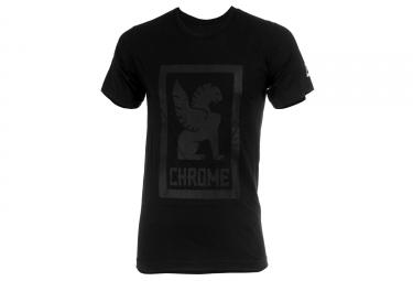 t shirt chrome fat logo gris