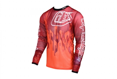 maillot manches longues troy lee designs sprint air code orange 2017