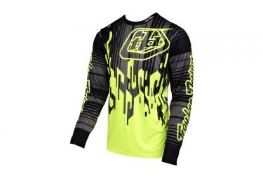 maillot manches longues troy lee designs sprint code jaune noir 2017