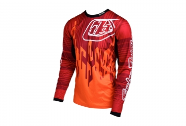 maillot manches longues troy lee designs sprint code orange 2017