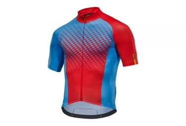 maillot manches courtes mavic 2017 crossmax elite bleu rouge