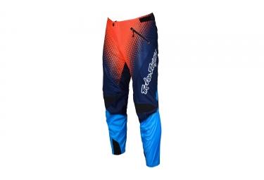 pantalon enfant troy lee designs sprint starburst bleu orange 2017