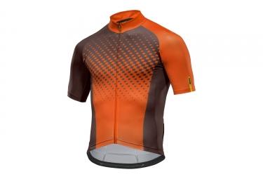 maillot manches courtes mavic 2017 crossmax elite marron orange