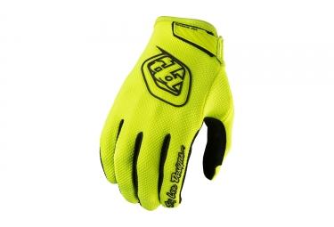 gants longs troy lee designs air jaune fluo 2017