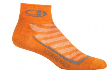 paire de chaussettes icebreaker run ultra light mini orange