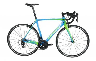 velo route viper puy de dome carbone 11v shimano 105 5800 bleu vert