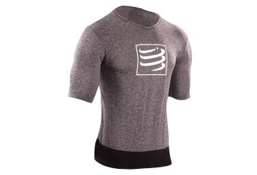 t shirt compressport training gris