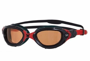 lunettes de natation zoggs predator flex polarized ultra noir rouge