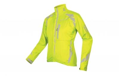 endura veste coupe vent luminite ii jaune fluo femme