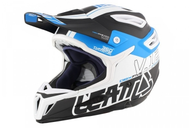 casque integral leatt dbx 5 0 composite noir bleu blanc