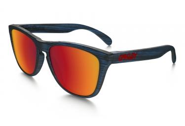 oakley lunettes frogskins driftwood collection bleu torch iridium ref oo9013 b555