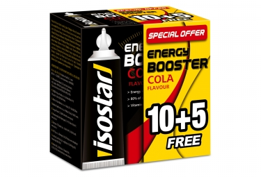 gel energetique isostar energy booster cola 15x20g