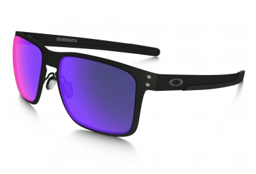 oakley lunettes holbrook noir mat positive red iridium ref oo4123 0255