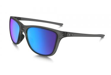 oakley lunettes reverie transparent gris sapphire iridium polarized ref oo9362 0655