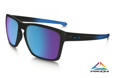 oakley lunettes sliver xl noir bleu prizm sapphire polarized ref oo9341 1357
