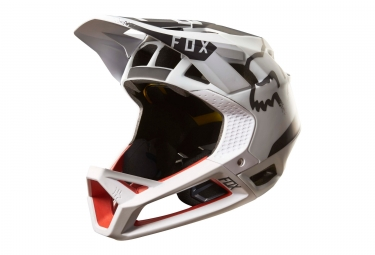 casque integral fox proframe moth mips blanc rouge