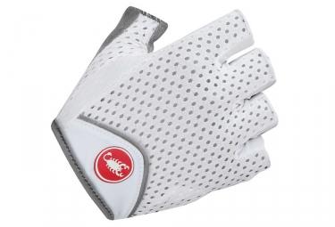 gants courts femme castelli teroso blanc