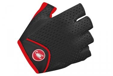 gants courts femme castelli teroso noir rouge