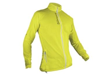 veste coupe vent femme raidlight ultralight jaune