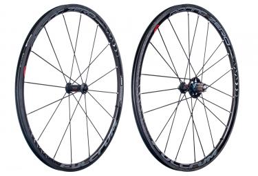 paire de roues fulcrum racing zero carbon pneu corps shimano sram