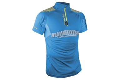 maillot manches courtes raidlight performer xp bleu