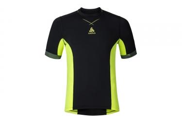maillot de corps manches courtes odlo 2017 ceramicool pro noir jaune