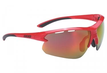 paire de lunettes bbb impulse rouge