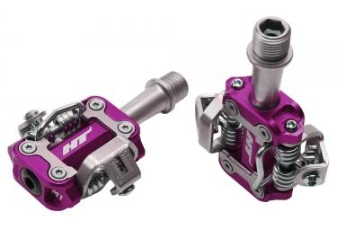 paire de pedales vtt ht components m1 violet