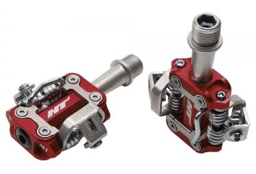 paire de pedales vtt ht components m1 rouge