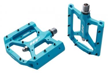 pedales plates ht me05 bleu