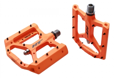 pedales plates ht me05 orange