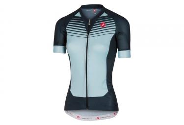maillot manches courtes femme castelli aero race bleu