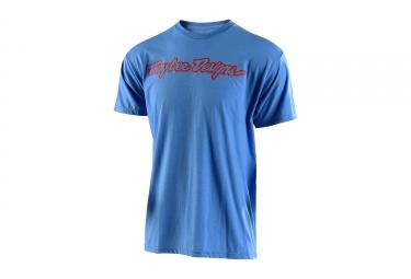 t shirt troy lee designs signature bleu orange