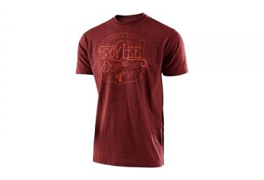 t shirt troy lee designs heritage rouge