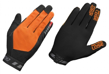 paire de gants longs gripgrab vertical noir orange
