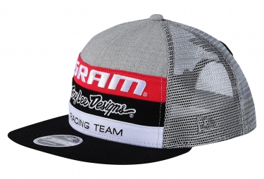 casquette troy lee designs sram tld racing gris