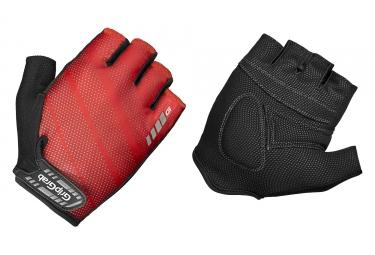 paire de gants courts gripgrab rouleur rouge noir