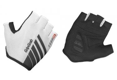 paire de gants courts gripgrab roadster blanc noir