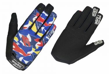 paire de gants longs enfant gripgrab rebel bleu camo